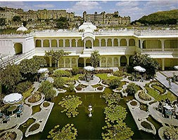 The Lily Pond at Hotel Lake Palace, Udaipur