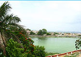 View of Lake Swaroop Sagar From  Hotel Swaroop Vilas, Udaipur