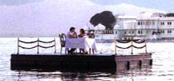 Honeymoon Special : Romantic Dinner on Pontoon in the Center of the Lake Pichola, Udaipur